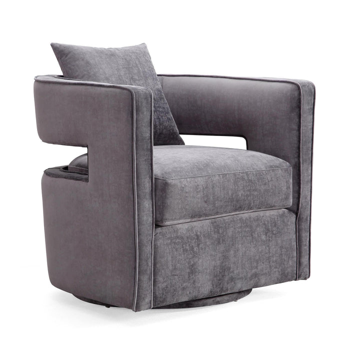TOV Furniture Modern Kennedy Grey Swivel Chair - TOV-L6125-Minimal & Modern