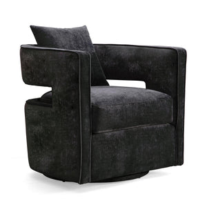 TOV Furniture Modern Kennedy Black Swivel Chair - TOV Furniture, Minimal & Modern - 1
