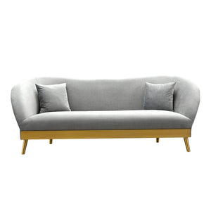 TOV Furniture Modern Chloe Grey Velvet Sofa - TOV Furniture, Minimal & Modern - 1