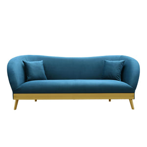 TOV Furniture Modern Chloe Spotted Blue Velvet Sofa - TOV Furniture, Minimal & Modern - 1