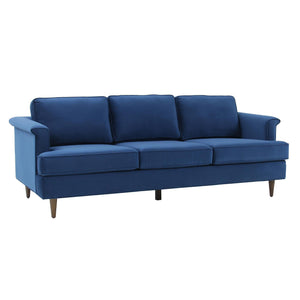 TOV Furniture Modern Porter Navy Velvet Sofa - TOV-L6490