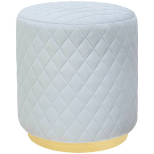 TOV Furniture Modern Abir Light Blue Velvet Ottoman - TOV-O136-Minimal & Modern