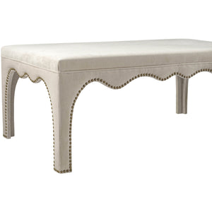 TOV Furniture Modern Ditmas Beige Bench/Table - TOV-O139-Minimal & Modern