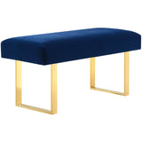 TOV Furniture Modern Alexis Velvet Bench , Benches - TOV Furniture, Minimal & Modern - 4