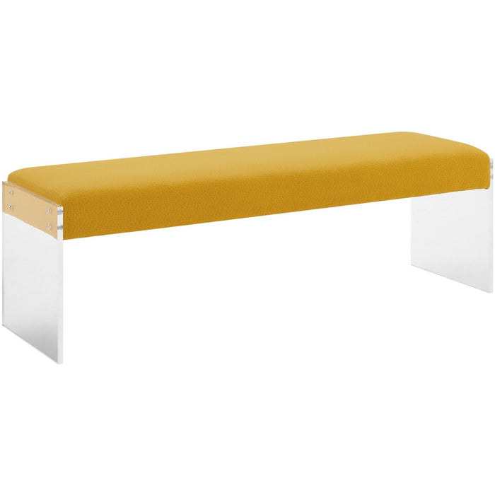 TOV Furniture Modern Sunshine Pebbled Velvet Bench TOV-O70-Minimal & Modern