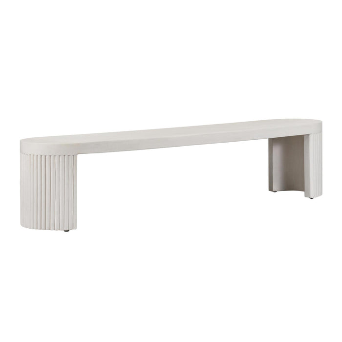 TOV Furniture Modern WAVE CONCRETE BENCH - TOV Furniture, Minimal & Modern - 1