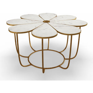 TOV Furniture Modern Flower Marble Cocktail Table - TOV Furniture, Minimal & Modern - 1