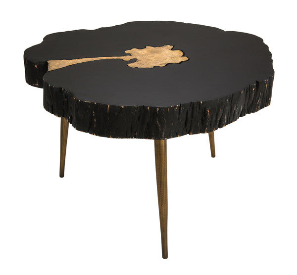 TOV Furniture Modern Timber Black and Brass Coffee Table - TOV-OC18167