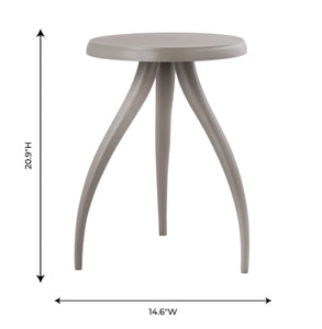 TOV Furniture Modern Sia Grey Textured Side Table - TOV-OC18226