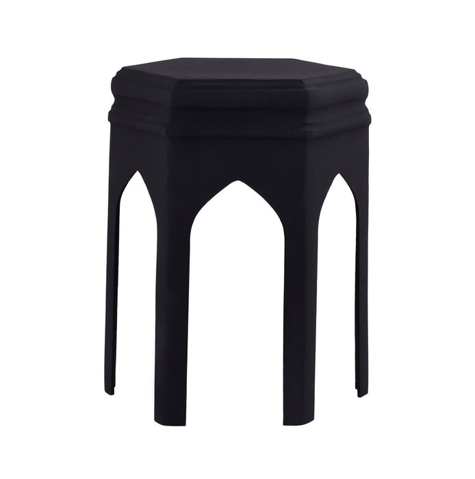 TOV Furniture Modern Fes Black Textured Side Table - TOV Furniture, Minimal & Modern - 1