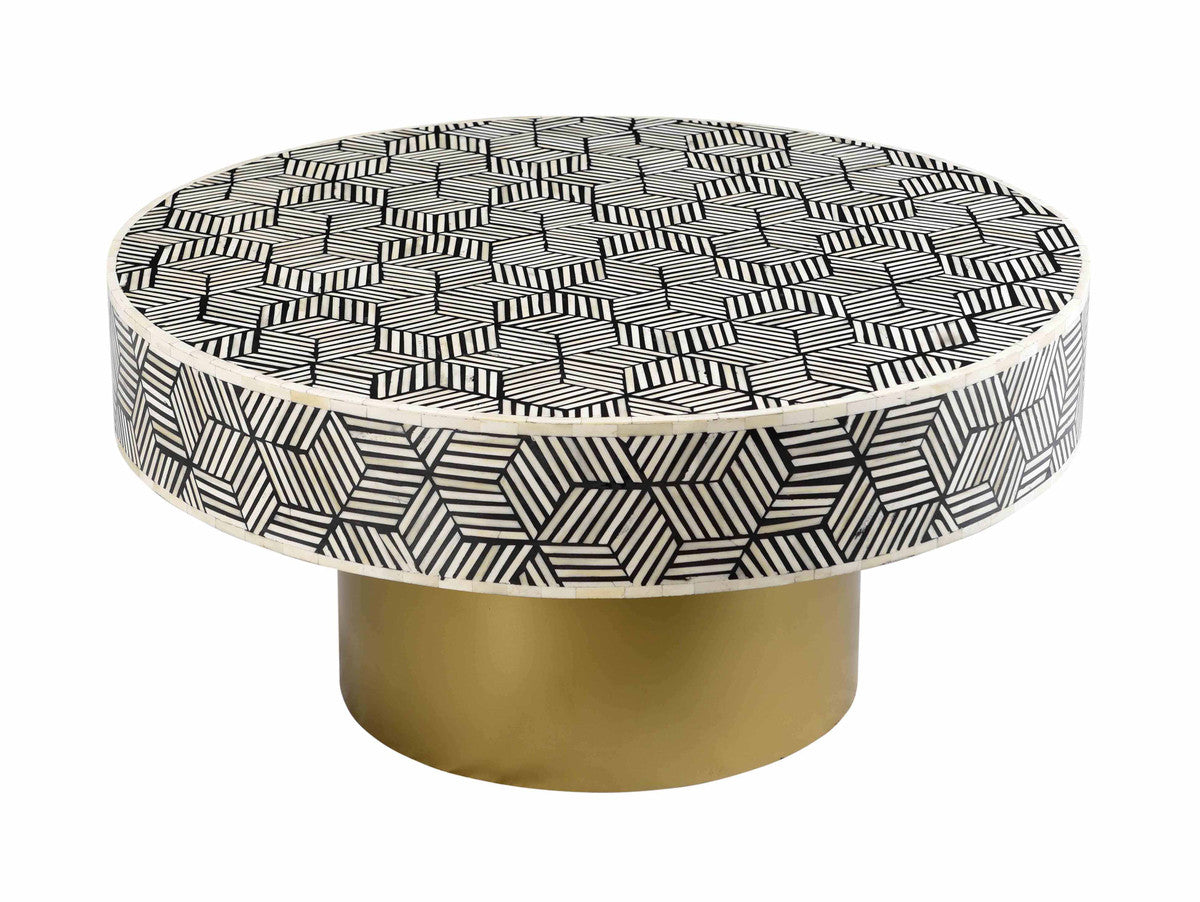 TOV Furniture Modern Bone Inlay Cocktail Table - TOV-OC18231