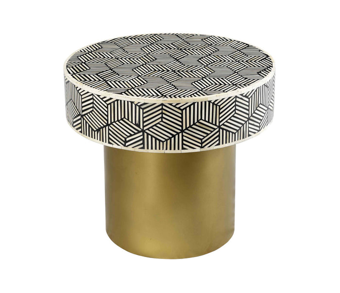 TOV Furniture Modern Bone Inlay Round Side Table - TOV-OC18232