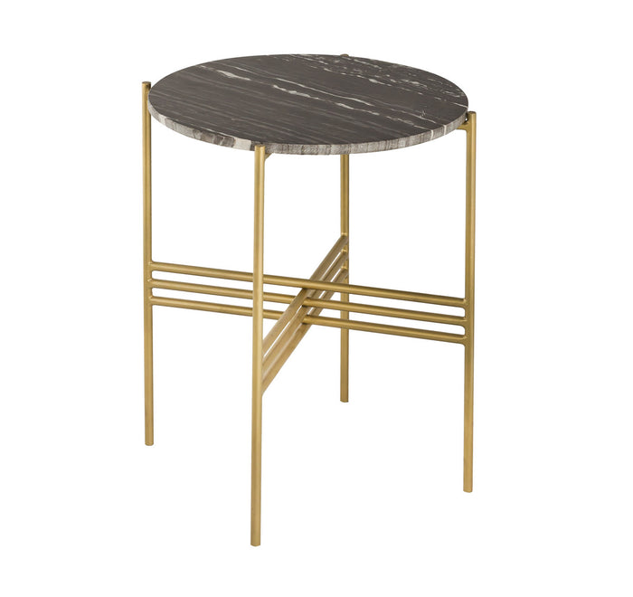TOV Furniture Modern Cress Black Marble Side Table - TOV-OC18248
