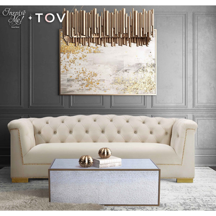 TOV Furniture X Inspire Me Lana Mirrored Coffee Table TOV-OC3729