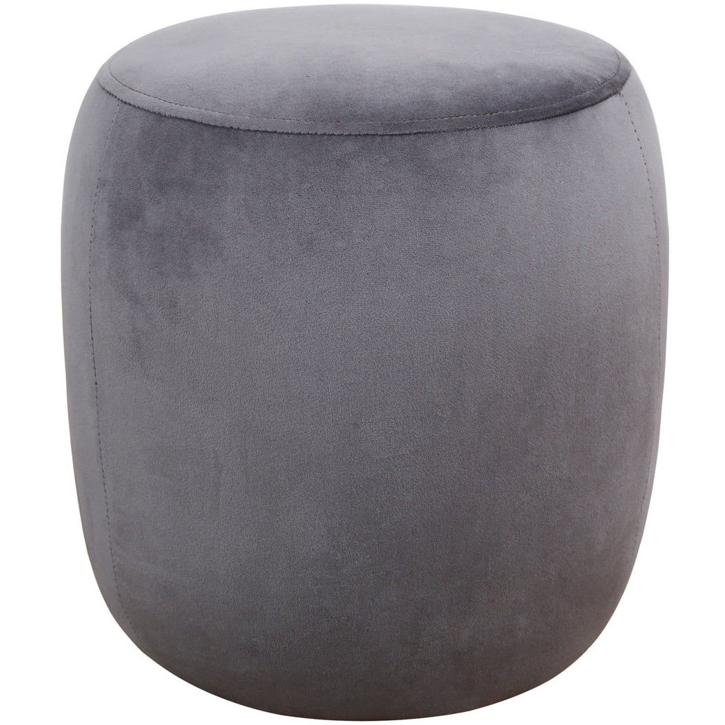 TOV Furniture Modern Willow Grey Velvet Ottoman - TOV Furniture, Minimal & Modern - 1