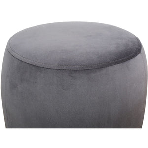 TOV Furniture Modern Willow Grey Velvet Ottoman - TOV Furniture, Minimal & Modern -  2