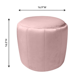 TOV Furniture Modern Ives Blush Velvet Ottoman - TOV-OC3837