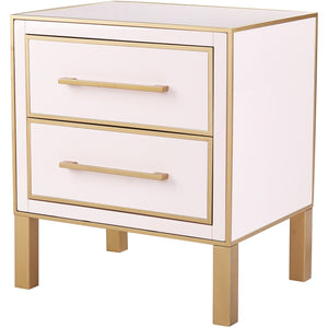 TOV Furniture Modern Emily Pink Lacquer Side Table - TOV-OC4102-Minimal & Modern
