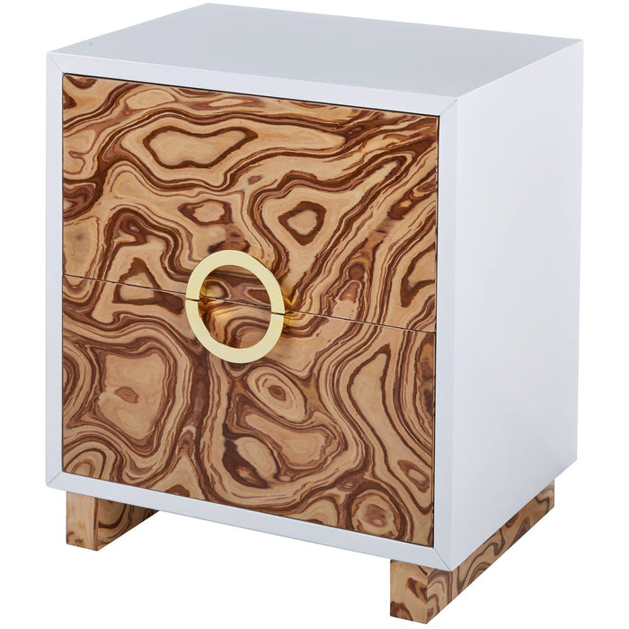 TOV Furniture Modern Cavalli Lacquer Burl Side Table - TOV-OC4104-Minimal & Modern
