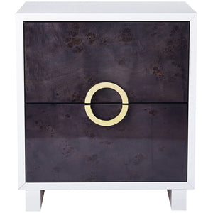 TOV Furniture Modern Cavalli Lacquer Grey Burl Side Table - TOV-OC4105-Minimal & Modern