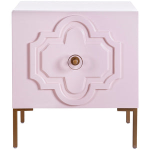 TOV Furniture Modern Anna Pink Lacquer Side Table - TOV Furniture, Minimal & Modern - 1
