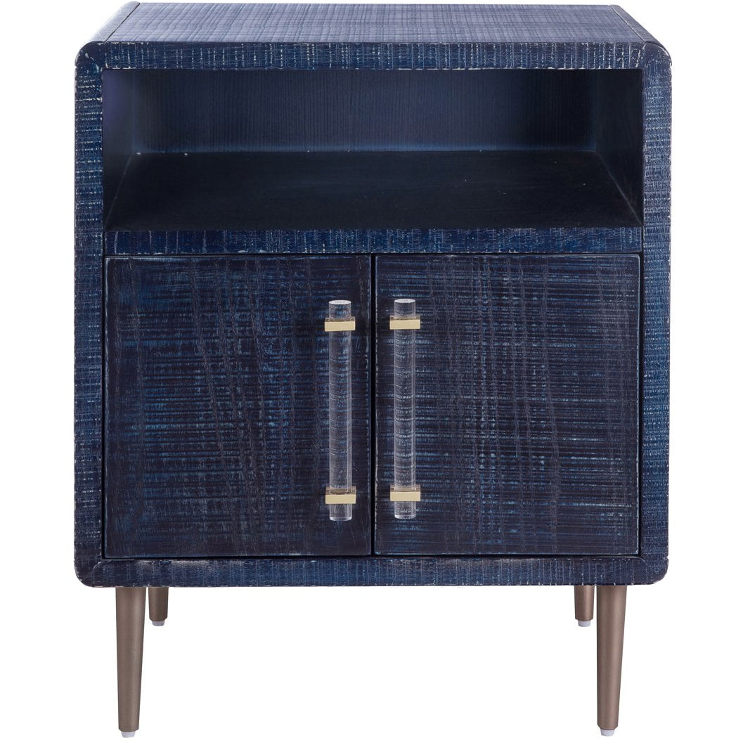 TOV Furniture Modern Marco Lacquer Indigo Side Table - TOV Furniture, Minimal & Modern - 1