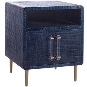 TOV Furniture Modern Marco Lacquer Indigo Side Table - TOV Furniture, Minimal & Modern -  2
