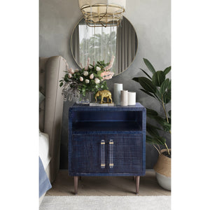 TOV Furniture Modern Marco Lacquer Indigo Side Table - TOV Furniture, Minimal & Modern -  9