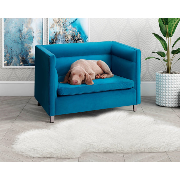 TOV Furniture Modern Beagle Light Blue Pet Bed - TOV-P2041-LB-Minimal & Modern