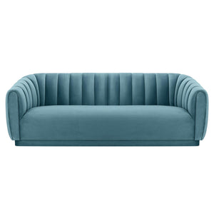 TOV Furniture Modern Arno Sea Blue Velvet Sofa - TOV-S165-Minimal & Modern