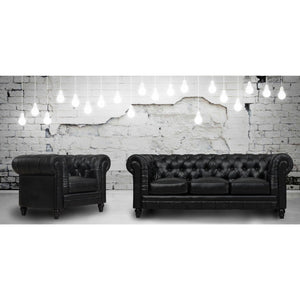TOV Furniture Modern Zahara Black Leather Sofa TOV-S24-01-Minimal & Modern