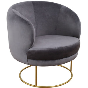 TOV Furniture Modern Bella Grey Velvet Chair - TOV Furniture, Minimal & Modern - 1