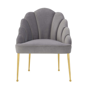 TOV Furniture Modern Daisy Petite Grey Velvet Chair TOV-S4924