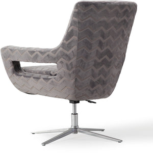 TOV Furniture Modern Fifi Grey Swivel Chair - TOV-S6118-Minimal & Modern