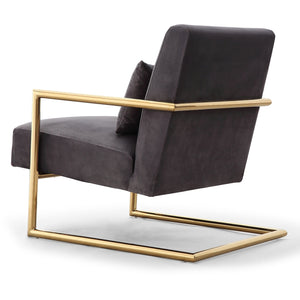 TOV Furniture Modern Elle Grey Velvet Chair - TOV-S6142-Minimal & Modern