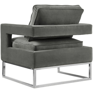 TOV Furniture Modern Avery Grey Velvet Chair TOV-S6293