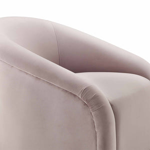 TOV Furniture Modern Boboli Mauve Velvet Chair + Ottoman Set TOV-S6383