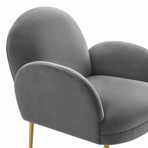 TOV Furniture Modern Gwen Grey Velvet Chair TOV-S6390