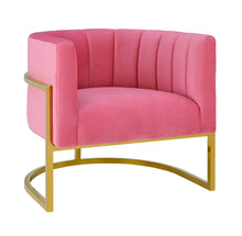 TOV Furniture Modern Magnolia Rose Pink Velvet Chair - TOV Furniture, Minimal & Modern - 1