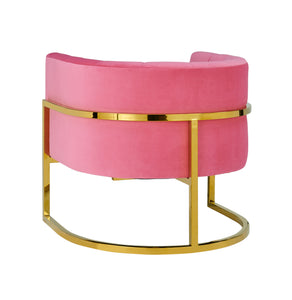 TOV Furniture Modern Magnolia Rose Pink Velvet Chair - TOV-S6427