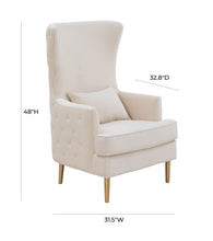 TOV Furniture Modern Alina Cream Tall Tufted Back Chair - TOV-S6477