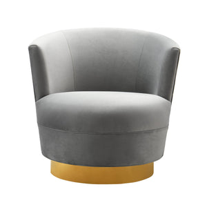 TOV Furniture Modern Noah Grey Swivel Chair - TOV-S7230