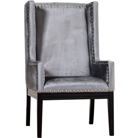 TOV Furniture Modern Tribeca Grey Velvet Chair ,  - TOV Furniture, Minimal & Modern - 1