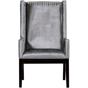 TOV Furniture Modern Tribeca Grey Velvet Chair TOV-TRI-GV-Minimal & Modern