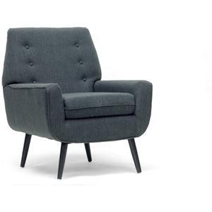 Baxton Studio Levison Gray Linen Modern Accent Chair Baxton Studio-chairs-Minimal And Modern - 1
