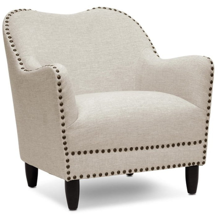 Baxton Studio Seibert Beige Linen Modern Accent Chair Baxton Studio-chairs-Minimal And Modern - 1