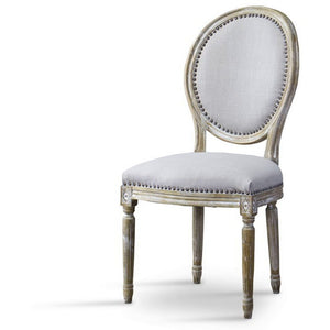 Baxton Studio Clairette Wood Traditional French Accent Chair-Round Baxton Studio-dining chair-Minimal And Modern - 1