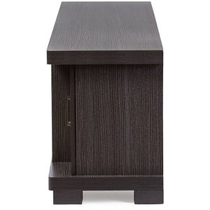 Baxton Studio Viveka 70-Inch Dark Brown Wood TV Cabinet with 2 Glass Doors and 2 Doors Baxton Studio-TV Stands-Minimal And Modern - 4