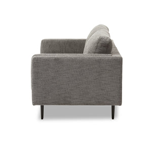 Baxton Studio Brittany Retro Mid-Century Modern Grey Fabric Upholstered 3-Seater Loveseat Baxton Studio-sofas-Minimal And Modern - 4