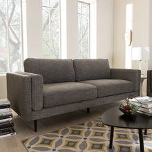Baxton Studio Brittany Retro Mid-Century Modern Grey Fabric Upholstered 3-Seater Loveseat Baxton Studio-sofas-Minimal And Modern - 1
